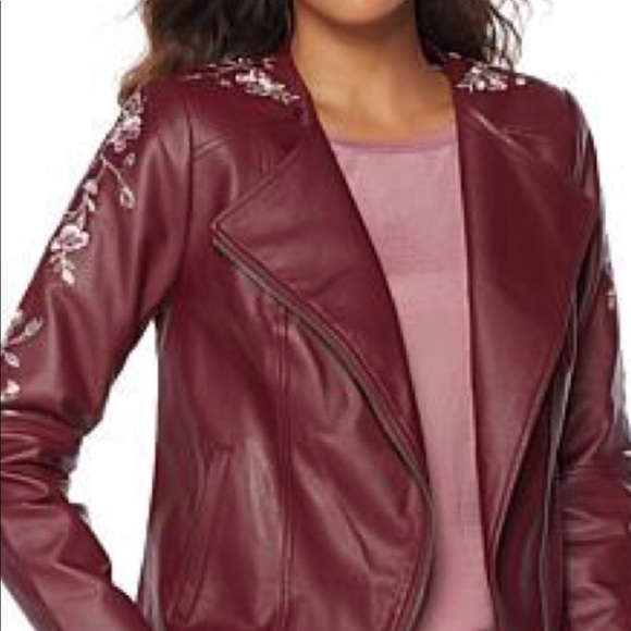 b3453684e65 NEW Faux Leather Moto Jacket. NWT. G by Giuliana